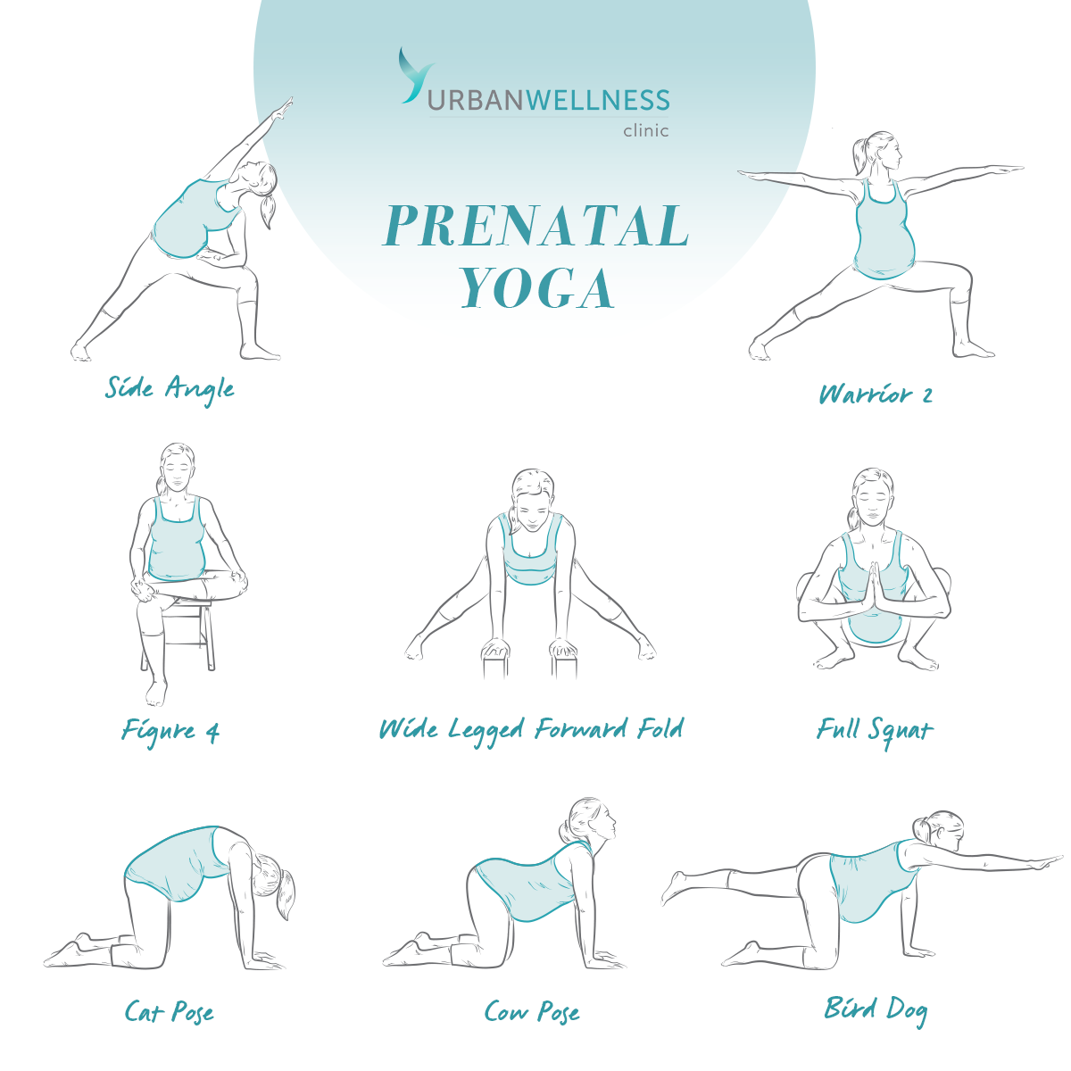Prenatal Yoga 8 Poses Every Pregnant Women Should Know Urban Wellness Clinic Blog